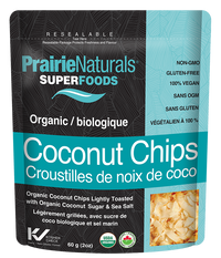 Prairie Naturals Superfoods Organic Coconut Chips (Choose Flavour)