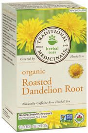 Traditional Medicinals Organic Roasted Dandelion Root (20 tea bags)