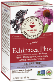Traditional Medicinals Organic Echinacea Plus Elderberry (20 tea bags)