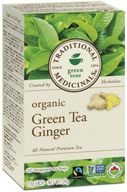 Traditional Medicinals Organic Green Tea Ginger (20 tea bags)
