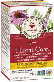 Traditional Medicinals Organic Throat Coat Lemon Echinacea (20 tea bags)