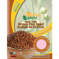 Gold Top Organics Whole Brown Flax Seeds (454 g)