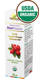 New Roots Rosa Mosqueta Seed Oil (Rosehip) Organic (30 mL)