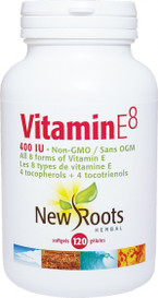 New Roots Vitamin E8 400IU (120 softgels)