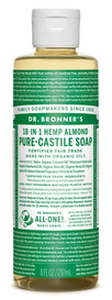 Dr.Bronners Castile Liquid Soap Almond (8 oz)