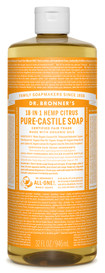 Dr.Bronners Castile Liquid Soap Citrus (32 oz)