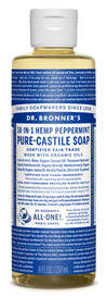 Dr.Bronners Castile Liquid Soap Peppermint (8 oz)