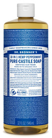 Dr.Bronners Castile Liquid Soap Peppermint (32 oz)