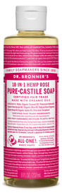 Dr.Bronners Castile Liquid Soap Unscented Rose (8 oz)