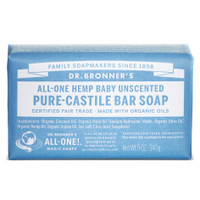 Dr.Bronners Castile Bar Soap Baby Unscented (140 g)