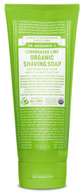Dr.Bronners Organic Shaving Soap Lemongrass Lime (7 oz)