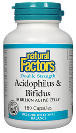 Natural Factors Acidophilus & Bifidus Double Strength (180 caps)