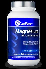 CanPrev Magnesium Bis-Glycinate 200 (240 veg caps)