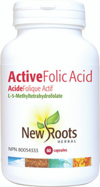 New Roots Active Folic Acid (60 caps)