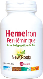 New Roots Heme Iron 11mg (30 caps)