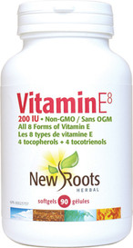 New Roots Vitamin E8 200IU (90 softgels)