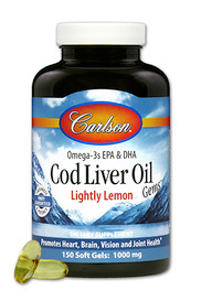 Carlson Cod Liver Oil Lightly Lemon (150 softgels)