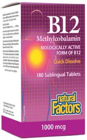 Natural Factors B12 Methylcobalamin 1000 mcg (210 sub tabs)