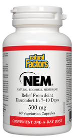 Natural Factors NEM Natural Eggshell Membrane 500 mg (60 veg caps)