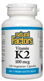 Natural Factors Vitamin K2 100 mcg (120 veg caps)