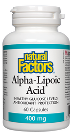 Natural Factors Alpha-Lipoic Acid 400 mg (60 caps)