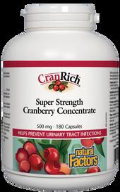 Natural Factors CranRich Super Cranberry Concentrate 500 mg (180 caps)
