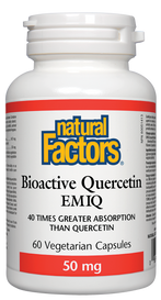 Natural Factors Bioactive Quercetin EMIQ 50 mg (60 veg caps)