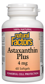 Natural Factors Astaxanthin Plus 4 mg (60 softgels)