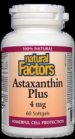 Natural Factors Astaxanthin Plus 4 mg (60 softgels)