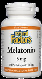 Natural Factors Melatonin 5 mg Peppermint (180 tabs)