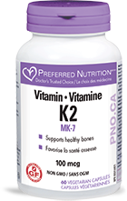 Preferred Nutrition Vitamin K2 100 mcg (60 veg caps)
