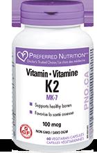 Preferred Nutrition Vitamin K2 100 mcg (60 veg caps)
