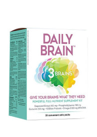 Daily Brain 3 Brains  (30 cello packs)