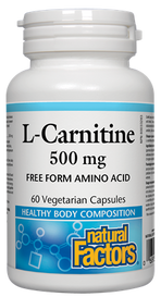 Natural Factors L-Carnitine 500 mg (60 veg caps)
