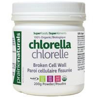 Prairie Naturals Organic Chlorella Broken Cell Wall (200 g)