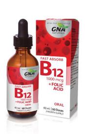 GNA Naturals B12 1000 mcg Folic Acid (60 mL)