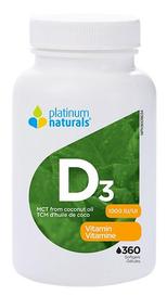 Platinum Naturals Vitamin D3 1000 IU (360 softgels)