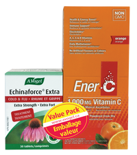 A.Vogel Echinaforce Extra & Ener-C Box Orange flavour (30 tabs)