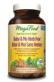 Mega Food Baby & Me Herb Free (120 tabs)