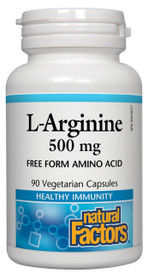 Natural Factors L-Arginine 500 mg (90 veg caps)
