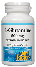 Natural Factors L-Glutamine 500 mg (60 veg caps)