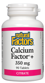 Natural Factors Calcium Factor+ 350 mg Citrate (90 tabs)