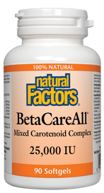Natural Factors BetaCareAll 25,000 IU (90 softgels)