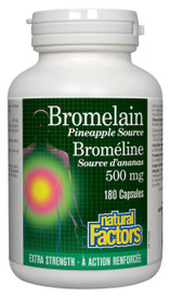 Natural Factors Bromelain Extra Strength Pineapple Source 500 mg (180 caps)