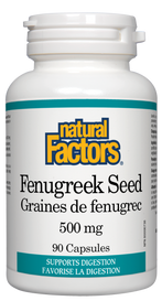 Natural Factors Fenugreek Seed (500 mg) (90 caps)