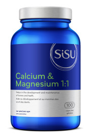 SISU Calcium and Magnesium 1:1 with D3 (100 caps)