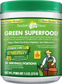 Amazing Grass Green SuperFood Lemon Lime Energy (210 g)