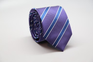 Purple Stripe Necktie