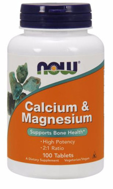 Cal- Mag 500/250 mg 100 Tabs, Now Foods