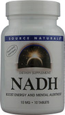NADH 10mg (CO-E1)  10 Tabs, Source Naturals